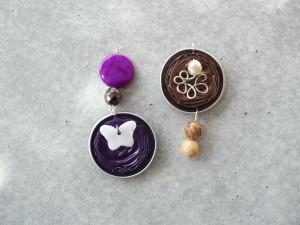 Pendentifs capsules de café qui seront montées sur du fil cablé et fermoirs argentés. dans colliers photo-001-300x225